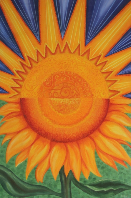 Shine With The Sun | Painting by artist Jigisha Dwivedi | acrylic | Canvas Board