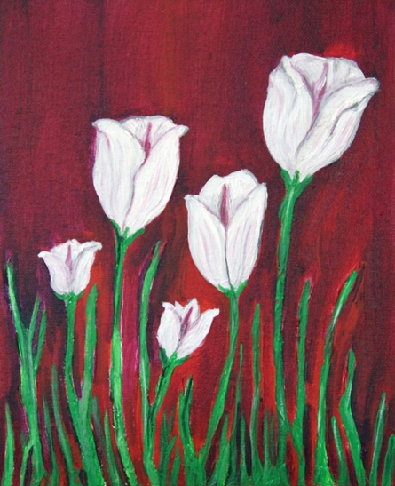 Tulips | Painting by artist Jigisha Dwivedi | acrylic | Canvas Board
