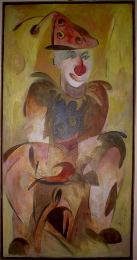 JOKER   Painting by artist Sandeep Shukla   acrylic   ACRYLIC COLOUR
