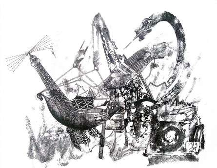 Lifestyle Pen Art Drawing title 'Contradictions In The World Of Mind' by artist Akshay Tijare