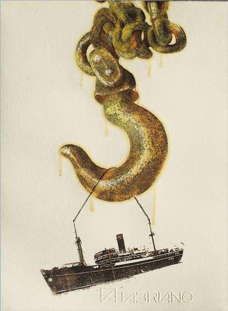 Titanic Returns | Painting by artist Akshay Tijare | watercolor | Paper
