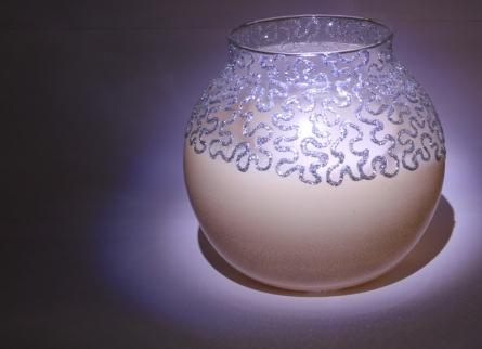 Abstract flower vase | Glass art by artist Shweta Vyas