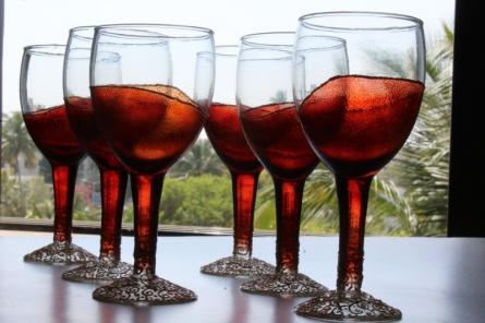 Coloured drinking glasses | Glass art by artist Shweta Vyas