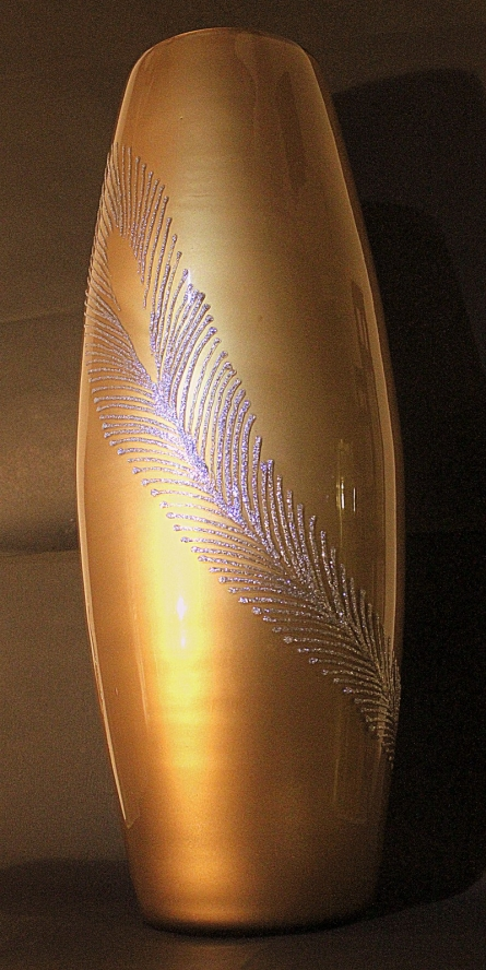 Abstract feather   Glass art by artist Shweta Vyas