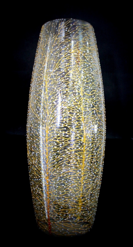 Wish Tree Glass Vase | Glass art by artist Shweta Vyas