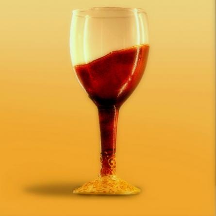 Coloured drinking glass | Glass art by artist Shweta Vyas