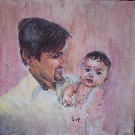 Fathers Pride | Painting by artist Lasya Upadhyaya | acrylic | Canvas Board
