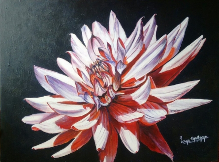Nature Acrylic Art Painting title 'In full bloom' by artist Lasya Upadhyaya