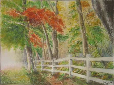Mystic Woods | Painting by artist Lasya Upadhyaya | watercolor | Paper