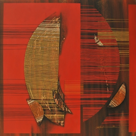 Abstract Acrylic Art Painting title 'Conquer Abstract 4' by artist Rahul Dangat