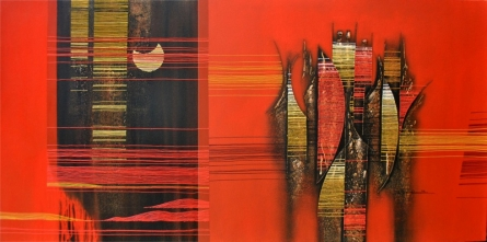 Abstract Acrylic Art Painting title 'Conquer Abstract 6' by artist Rahul Dangat