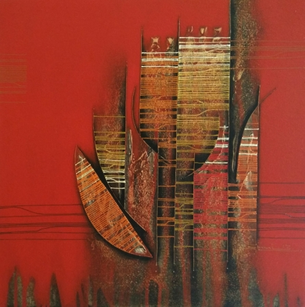 Abstract Acrylic Art Painting title Conquer Abstract 9 by artist Rahul Dangat