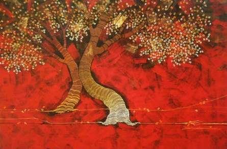 Nature Acrylic Art Painting title 'Tree 3' by artist Rahul Dangat
