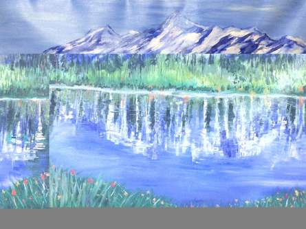 Himalayan Summer | Painting by artist Kiran Bableshwar | oil | Canvas