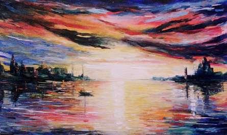 Overcast Sky | Painting by artist Kiran Bableshwar | oil | Canvas