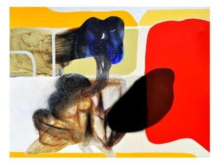 Abstract Reflection   Mixed_media by artist Neeraj Ydava   Canvas