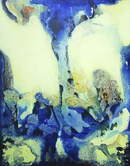 Veena Jain | Oil Painting title Abstract X on Canvas | Artist Veena Jain Gallery | ArtZolo.com