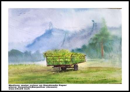 Plain Air | Painting by artist Biki Das | watercolor | Paper