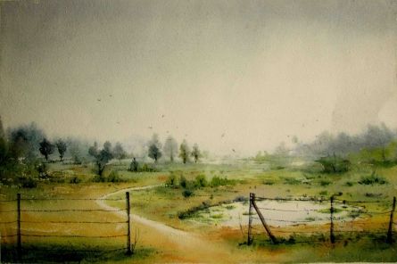 Img 2000 - 002 | Painting by artist Biki Das | watercolor | Paper