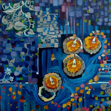 Farewell To Civilisation | Painting by artist Nishant Mishra | mixed-media | Canvas