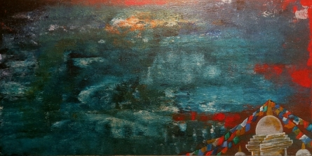 contemporary Acrylic Art Painting title 'The Lake Of Mind' by artist Nishant Mishra