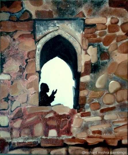 Ziyarat | Painting by artist Nishant Mishra | oil | Canvas
