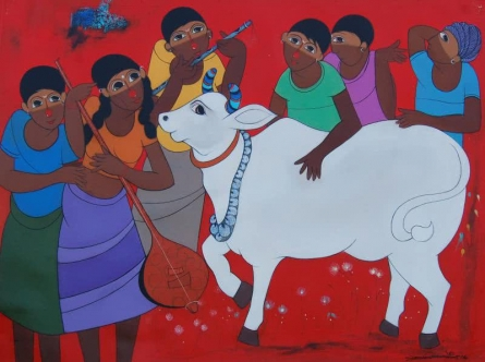 Dnyaneshwar Bembade | Acrylic Painting title Memorable on Canvas | Artist Dnyaneshwar Bembade Gallery | ArtZolo.com