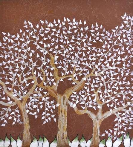 Tribhovan | Painting by artist Sumit Mehndiratta | oil | Paper