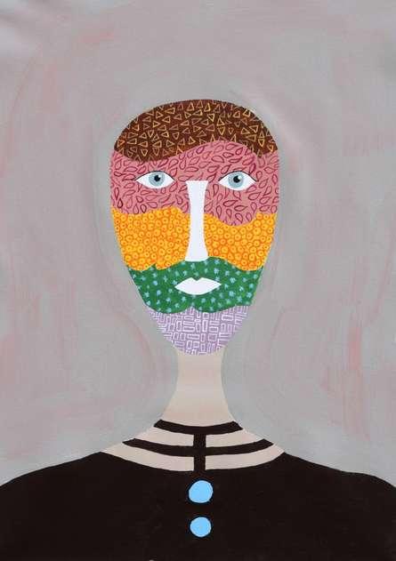 Portrait Acrylic Art Painting title Brena by artist Sumit Mehndiratta