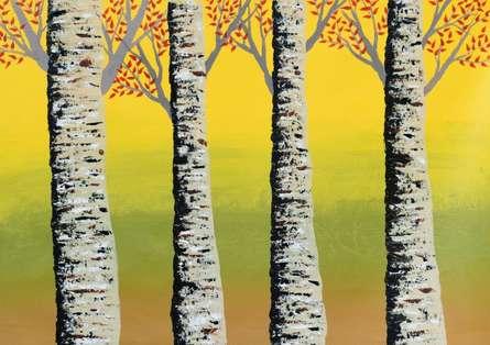 Early Autumn  | Painting by artist Sumit Mehndiratta | acrylic | Canvas