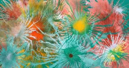 Sumit Mehndiratta | Acrylic Painting title Exploflora Series No 2 on Canvas | Artist Sumit Mehndiratta Gallery | ArtZolo.com