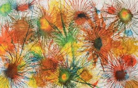 Abstract Acrylic Art Painting title 'Exploflora Series No 5' by artist Sumit Mehndiratta