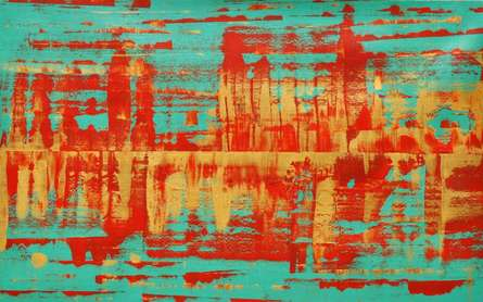 Frequencies | Painting by artist Sumit Mehndiratta | acrylic | Canvas