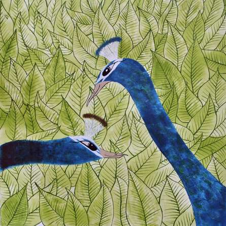 Animals Acrylic Art Painting title 'In Love' by artist Sumit Mehndiratta