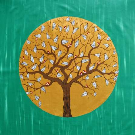In The Emerald Forest | Painting by artist Sumit Mehndiratta | acrylic | Canvas