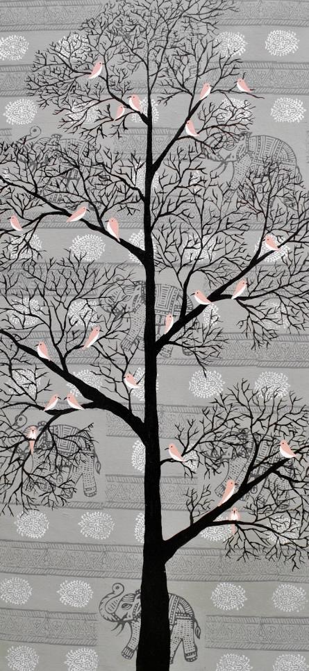 Sumit Mehndiratta | Acrylic Painting title Karvabham on Canvas | Artist Sumit Mehndiratta Gallery | ArtZolo.com
