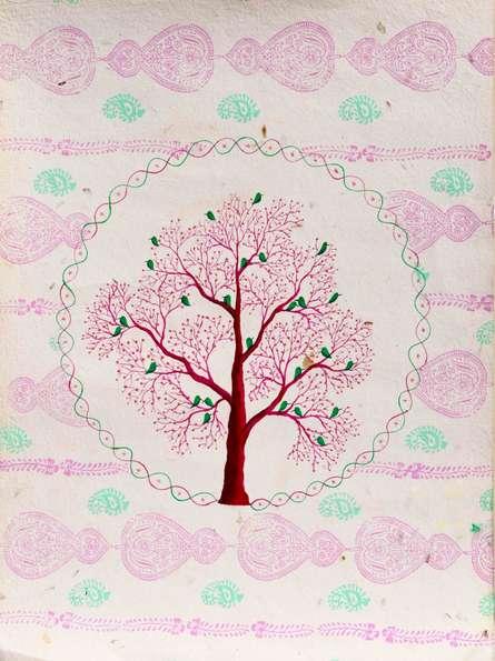Chamnavrit   Painting by artist Sumit Mehndiratta   acrylic   Handmade Paper