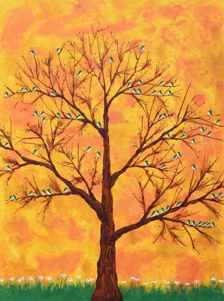 Pakhban  | Painting by artist Sumit Mehndiratta | acrylic | Canvas