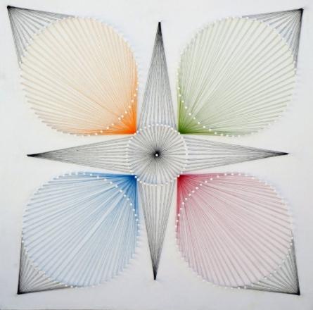 Sumit Mehndiratta | Nailed It Series No 14 Mixed media by artist Sumit Mehndiratta on wood | ArtZolo.com