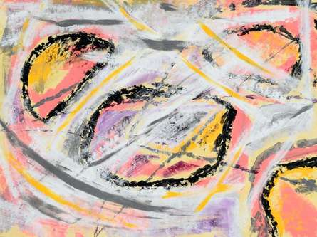 Abstract Acrylic Art Painting title Oblox by artist Sumit Mehndiratta