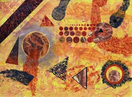 Palax | Painting by artist Sumit Mehndiratta | mixed-media | handmade paper