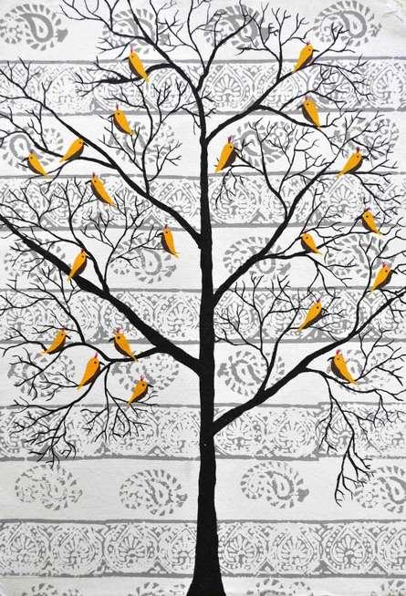 Parvar | Painting by artist Sumit Mehndiratta | acrylic | Paper