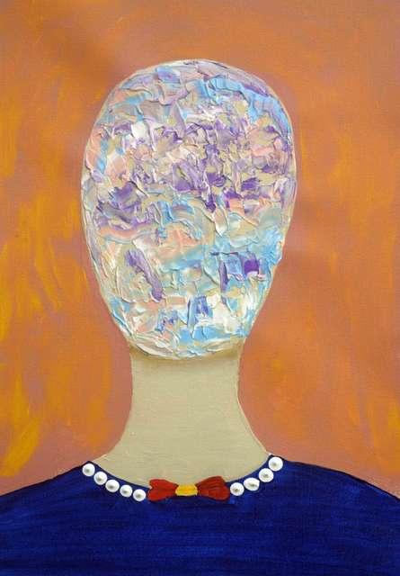 Portrait Acrylic Art Painting title 'Petricia' by artist Sumit Mehndiratta