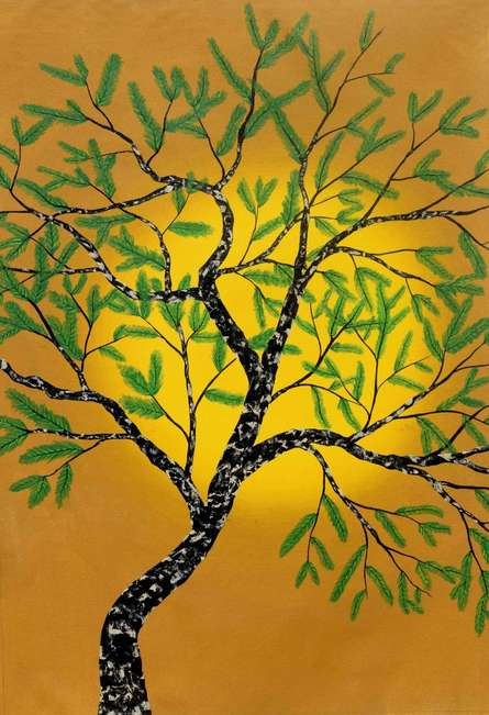 Nature Acrylic Art Painting title Pitvaya by artist Sumit Mehndiratta