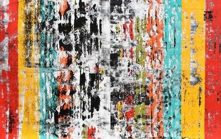 Abstract Acrylic Art Painting title Pulsations by artist Sumit Mehndiratta