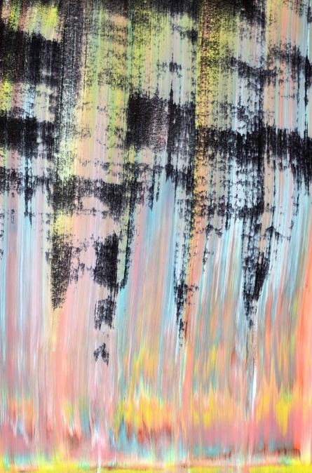 Abstract Acrylic Art Painting title 'Slivor' by artist Sumit Mehndiratta
