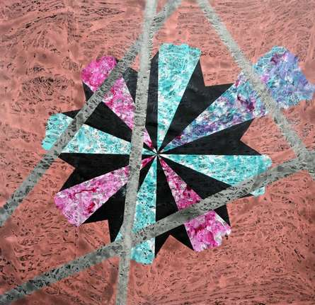 Abstract Acrylic Art Painting title 'Supernova' by artist Sumit Mehndiratta