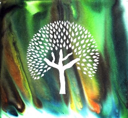Nature Acrylic Art Painting title 'Swapna Vriskh' by artist Sumit Mehndiratta