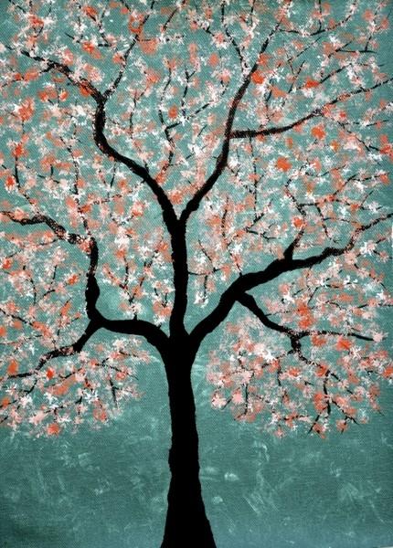 Treescape 1 | Painting by artist Sumit Mehndiratta | acrylic | Canvas