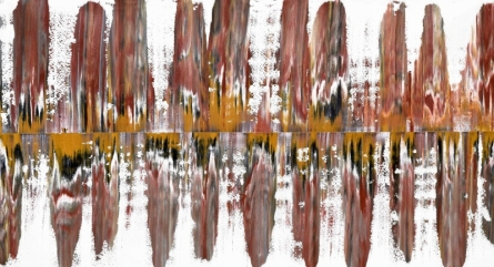 Abstract Oil Art Painting title 'Ubium 33x60 Inches Oil On Canvas' by artist Sumit Mehndiratta